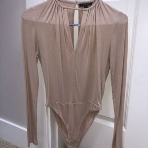 Nude Topshop body suit.